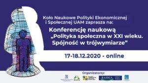 """""""Polityka społeczna w XXI wieku. Spójność w trójwymiarze"""" – PROGRAM"""