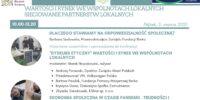 """Zaproszenie na konferencję pt. """"Wartości i rynek we wspólnotach lokalnych. Sieciowanie partnerstw lokalnych"""""""