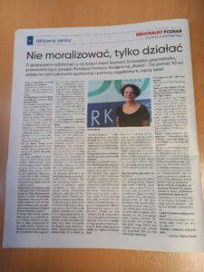 Nie moralizować, tylko działać! Wywiad z Barbarą Sadowską